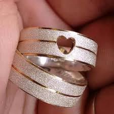 Preferidos Alianças Prata 950 Namoro Coração Vazado Baratas Ouro   Favoritos  @EK78