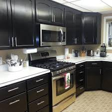 painted black cabinets in kitchen pictures nuvo cabinet paint gallery giani inc