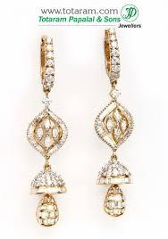 gold jhumka hoop earrings diamond hoop earrings 18k gold diamond jhumkas der640