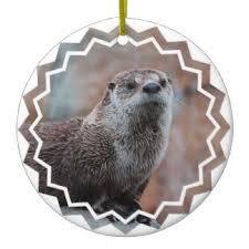 river otter ornaments keepsake ornaments zazzle