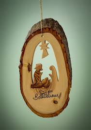 olive wood christmas grottos wooden tree ornaments bethlehem