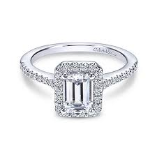 cut engagement ring emerald cut engagement rings gabriel co