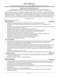 Best Operations Manager Resume by Sample Assistant Property Manager Resume Resume For Your Job