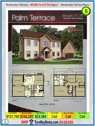 palm terrace rochester modular home model ts 7r two story plan price
