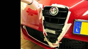alfa romeo emblem plasti dip on alfa romeo mito front grill gta style and rims youtube