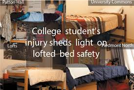 Safety Rail For Bunk Bed College Student S Injury Sheds Light On Lofted Bed Safety The Signal