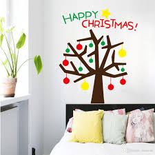 hot sale wall stickers for decorative christmas tree xmas home hot sale wall stickers for decorative christmas tree xmas home decoration window display removable wallpaper product