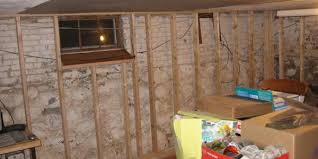 finishing a stone wall basement u2013 phase 1 complete framing