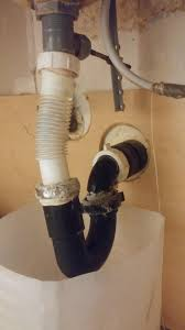 any reason not to use flexible rubber p trap under bathroom sink