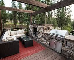 outdoor fireplace grill houzz