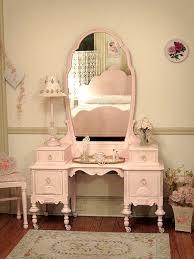 Antique Vanities For Bedrooms Beautiful Antique Pink Vanity With Bench Not A Big Pink Fan But