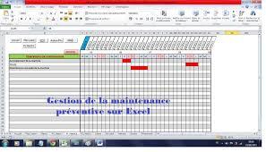 Mise En Place D Une Mise En Place D Une Maintenance Préventive Sur Excel Manutencão
