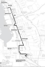 San Diego Public Transportation Map by Route 932 Timetables