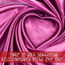 12 year anniversary gift for year 12 silk wedding anniversary gifts for gift