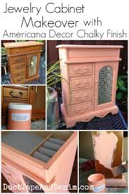 americana decor chalky finish paint on jewelry cabinet the old