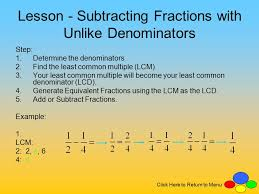 adding fractions with unlike denominators adding and subtracting fractions with unlike denominators ppt