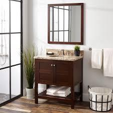 Wenge Bathroom Mirror 30 Everett Vanity For Undermount Sink Wenge Bathroom