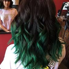 dyed weave hairstyles 18 gorgeous green colored hairstyle ideas 2018 hairstyle guru