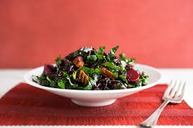 vegetarian thanksgiving rice beet and kale salad with cider