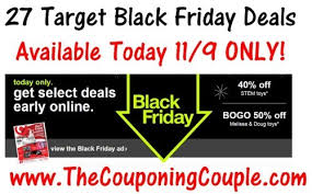 target black friday deals start 27 target black friday deals available today only