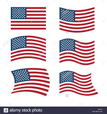United States American Flag Flag Of Usa Set Of Flags Of America In Various Shapes American