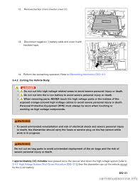 nissan pathfinder hybrid 2014 r52 4 g dismantling guide