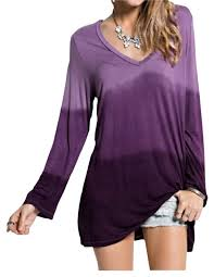 ombre blouse easel purple s sleeve ombre tie dye tunic s blouse size 4 s