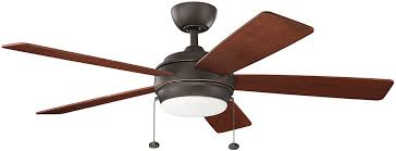 Kichler Ceiling Fans With Lights Kichler 330174oz Starkk Olde Bronze Led Home Ceiling Fan Kic