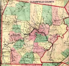 Map Of Counties In Pennsylvania by Pennsylvania History And Books Clearfield County