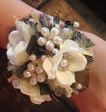 prom wrist corsage ideas prom2016 prom prom wrist corsage black and gold from twigs nest