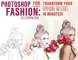 photoshop for fashion transform your hand drawn fashion sketch in