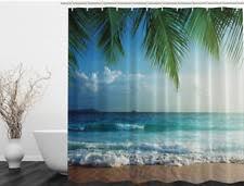 Shower Curtain Beach Theme Beach Island U0026 Ocean Fabric Shower Curtains Ebay