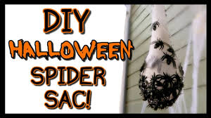 how to make a spider egg sac halloween decorations youtube