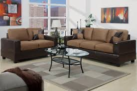 5pc modern micro suede sofa and love seat living room furniture