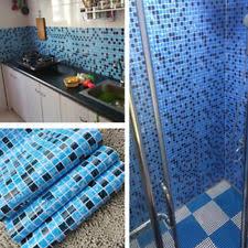 self adhesive wallpaper blue kitchen bathroom pvc tiles mosaic self adhesive wallpaper for