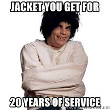 Meme Jacket - jacket you get for 20 years of service service award meme