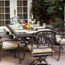 darlee elisabeth 9 piece cast aluminum patio dining set with darlee elisabeth 8 person patio dining set antique bronze brown granite tile darlee elisabeth 9 piece