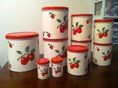 apple kitchen canisters vintage harvest gold canister set by cheinco 4 canisters
