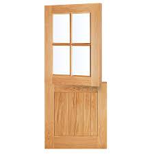 Cottage Doors Exterior Lpd Cottage Oak Veneer Exterior Stable Door Dunelm