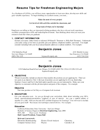 Resume Internship Objective Ingenious Design Ideas Resume For College Freshmen 16 Effective