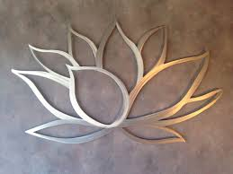 Wall Flower Decor by Paintings Wall Decor With Lotus Flower Metal Wall Art