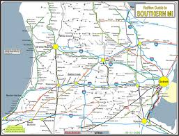 Map Of Central Wisconsin by Railfan Guides Of The U S