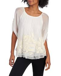 stein mart blouses sequin embroidered layered chiffon blouse tops boutique shops