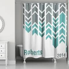 Gray And Turquoise Curtains Buy Green And White Shower Curtains From Bed Bath Beyond