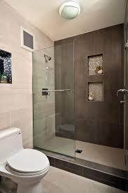 modern master bathroom with recessed shower niche by yana mlynash