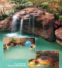 rock waterfalls for pools tahitian pool rock waterfalls kits water features fountains