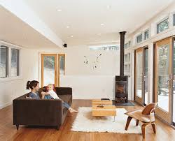 Modern Living Spaces Warm Up For Winter With A Wood Burning Stove Dwell Living