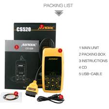 car engine fault code reader autool cs520 auto code scanner turns
