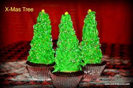 x mas tree cupcake