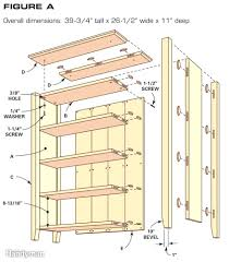 bookcase building plans home design very nice creative and
